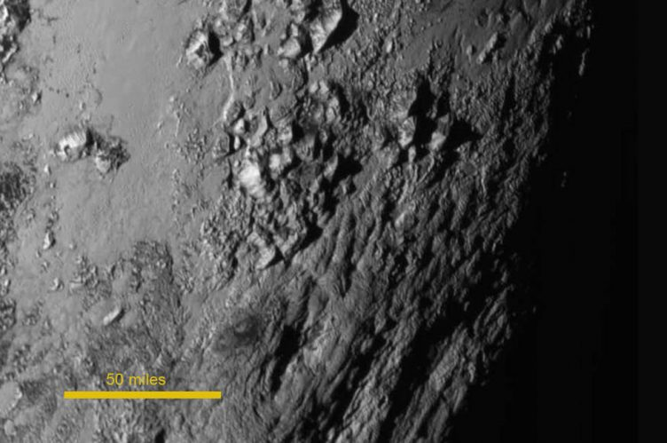 Pluto seen by New Horizons.