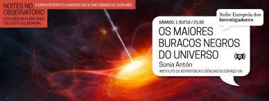 Noites no Observatório – Os maiores Buracos Negros do Universo