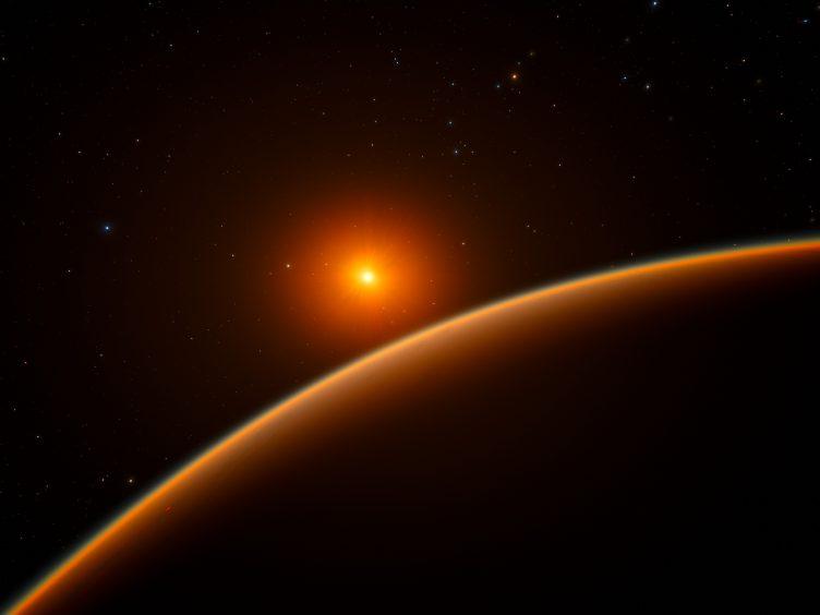 Imagem artística do exoplaneta LHS 1140b
