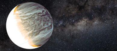 Imagem noturna de Vénus obtida no infravermelho