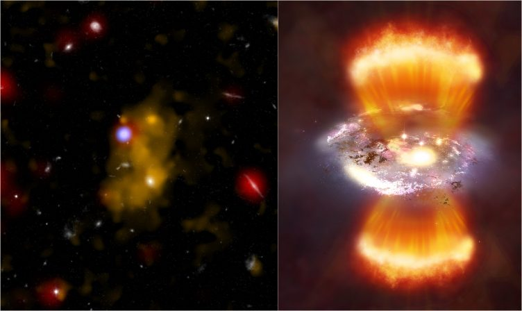Giant reservoirs of hydrogen gas about 10 billion light years away.