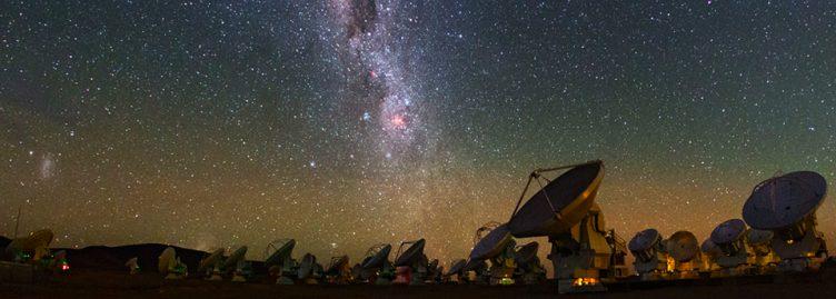 Foto do observatório ALMA