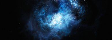 Impressão artística da CR7, uma galáxia muito distante.