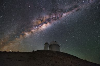 Foto do Telescópio de 3,6 metros do ESO