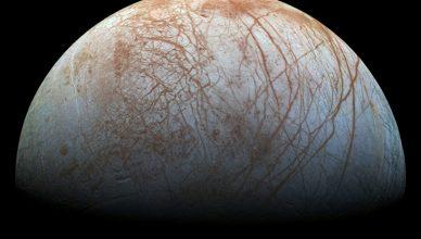 Europa, uma das luas de Júpiter.