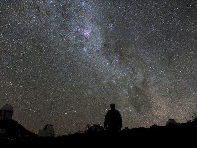 Vista do céu austral. Créditos ESO/H. Dahle