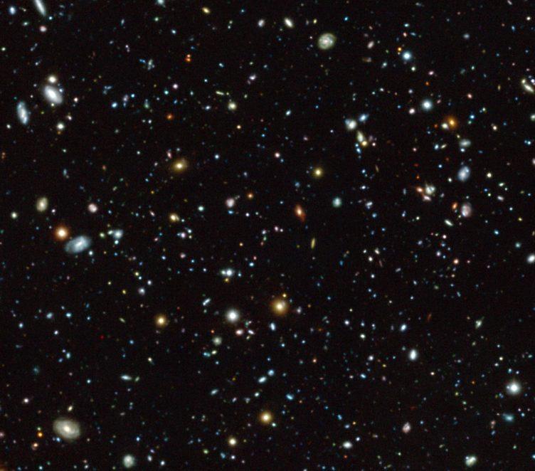 Imagem da região do Campo Ultra Profundo do Hubble