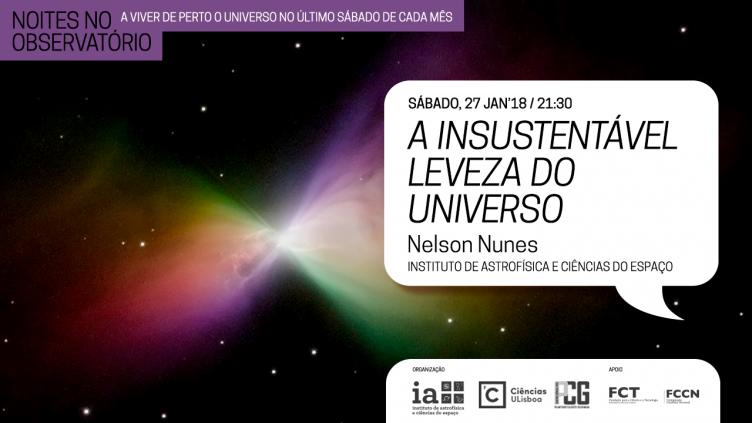 Noites no Observatório: A insustentável leveza do Universo