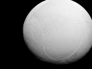 Enceladus seen by the Cassini spacecraft.