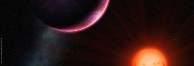 Imagem artística do planeta de tipo Júpiter quente, NGTS-1b