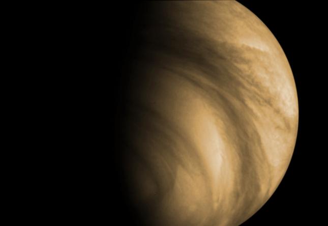 O planeta Vénus visto pela sonda Venus Express, da ESA.