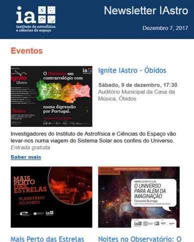Newsletters IAstro : Dezembro 2017