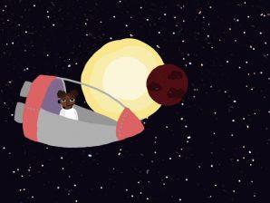 Fotograma da curta-metragem de animação de Pedro Jordão, sobre a deteção de planetas extrasolares.
