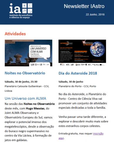 Newsletter IAstro - junho 2018