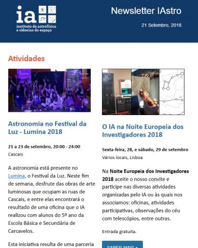 Newsletter IAstro - setembro 2018