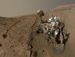 O rover Curiosity, da NASA, em Marte.