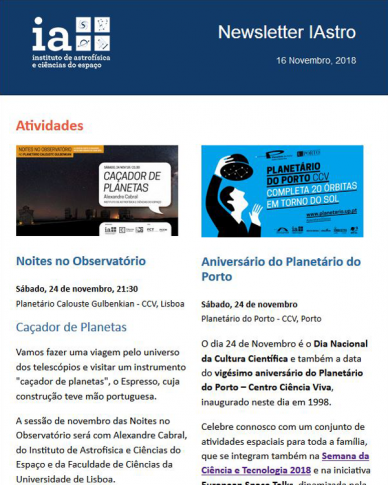 Newsletter IAstro 2018-11