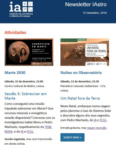 Newsletter IAstro 2018-12
