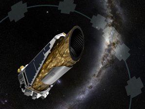 Conceção artística do satélite Kepler, da NASA.