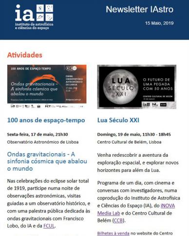 Newsletter IAstro 201905