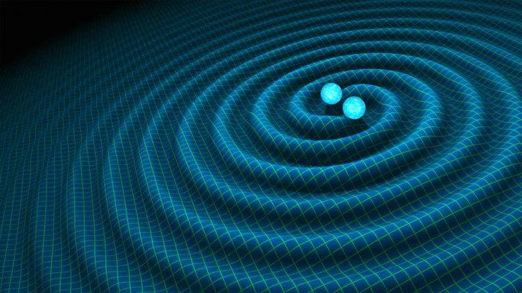 Representação artística de ondas gravitacionais