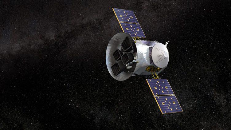Imagem artística do telescópio de pesquisa de trânsitos de exoplanetas (Transiting Exoplanet Survey Satellite - TESS), da NASA.