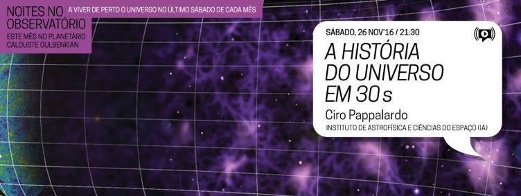 Noites no Observatório – A História do Universo em 30 segundos