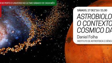 Noites no Observatório – Astrobiologia: O Contexto Cósmico da Vida