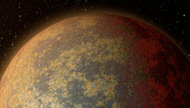 Imagem artística do exoplaneta HD219134 b.