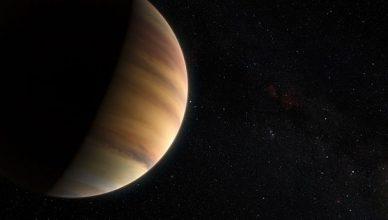 Imagem artística do exoplaneta 51 Pegasi b