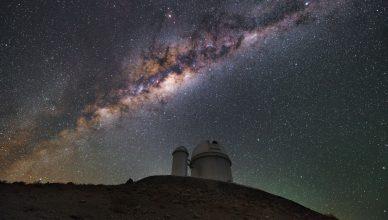 Foto do Telescópio de 3,6 metros do ESO