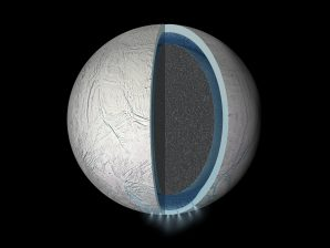 Artistic concept of the interior of Enceladus.