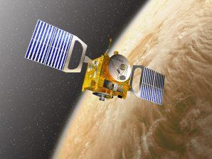 Conceção artística da sona Venus Express, da ESA.