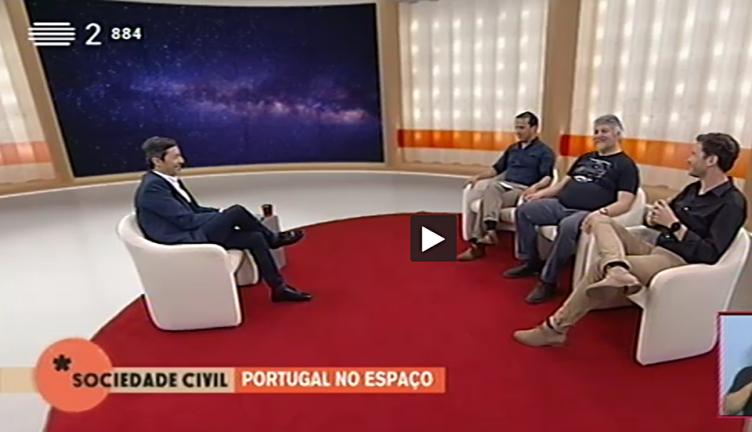 Pedro Machado e Tiago Campante no programa Sociedade Civil, RTP 2