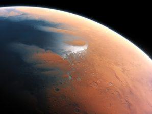 Artistic impression of Mars 4 billion years ago