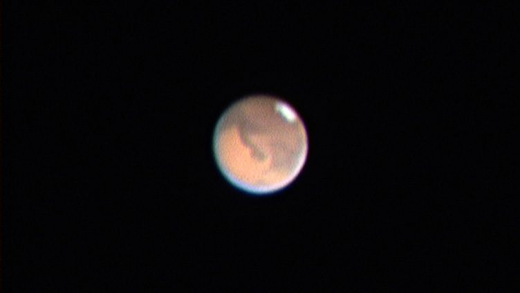 Marte ao telescópio