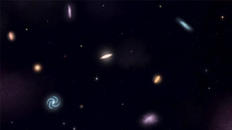 Still frame from the animated short film Big Bang, directed by Inês Ricardo.