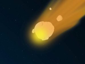 Still image from the short-movie produced by Felix Lima and about meteors and meteorites.
