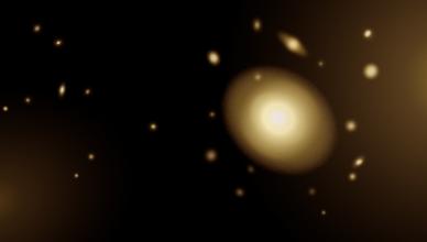 Conceção artística de uma galáxia massiva ultracompacta.