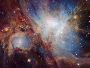 Imagem da Nebulosa de Orionte no infravermelho.