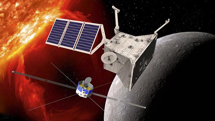 Impressão artística da BepiColombo, a primeira missão da Agência Espacial Europeia (ESA) a Mercúrio.