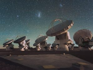 The ALMA radiotelescope.