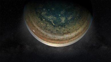 Júpiter observado pela missão Juno, da NASA