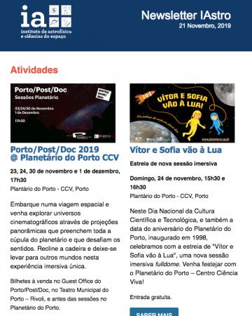 Newsletter IAstro Novembro 2019