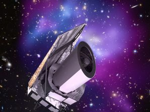 Imagem artística do satélite Euclid.