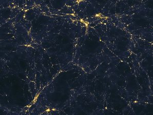 Estrutura de larga escala do Universo, formada por filamentos de matéria escura.