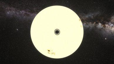 Simulação do trânsito do exoplaneta HIP 41378 f.
