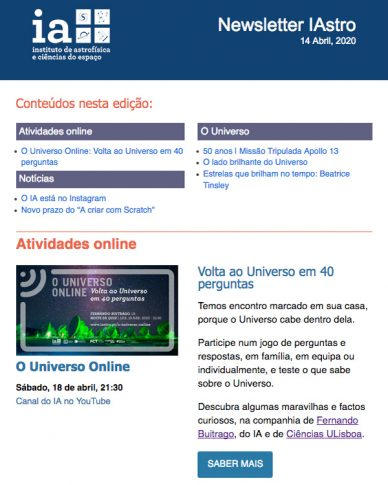 Newsletter IAstro Abril 2020