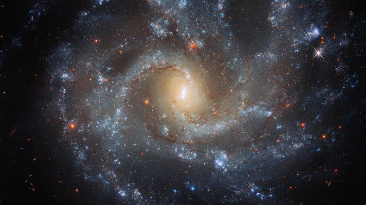 Imagem da galáxia espiral NGC 5468, situada a 130 milhões de anos-luz de distância.