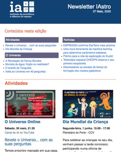 Newsletter IAstro Maio 2020